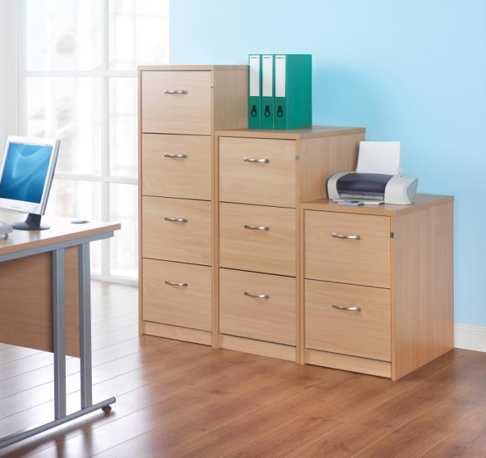 Office Wooden 2-Draw Filing Cabinets, 3-Draw Filing Cabinets, 4-Draw Filing Cabinets in Chorley, Leyland and Preston